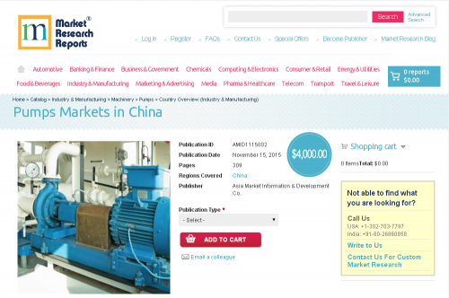 Pumps Markets in China'