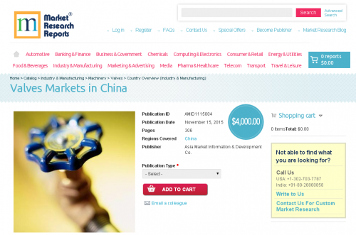 Valves Markets in China'