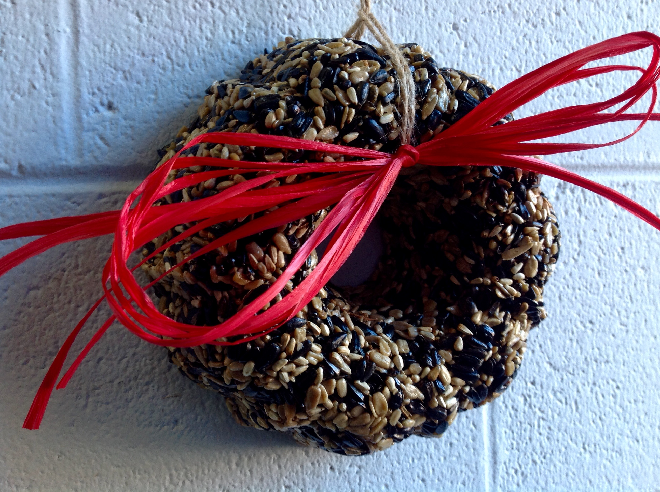 Use Bird Seed Wreaths to Decorate Indoors