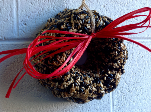 Use Bird Seed Wreaths to Decorate Indoors'