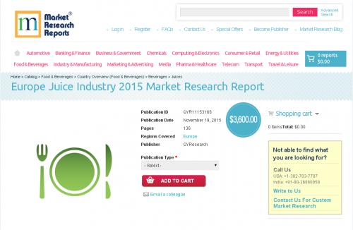 Europe Juice Industry 2015'