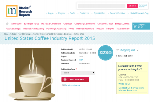 United States Coffee Industry Report 2015'