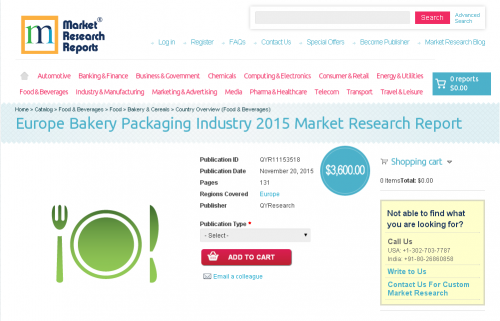 Europe Bakery Packaging Industry 2015'