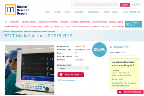 POCT Market in the US 2015 - 2019'