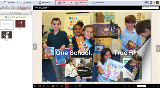 make an interactive school magazine