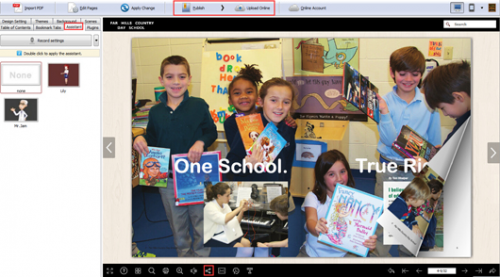 make an interactive school magazine'