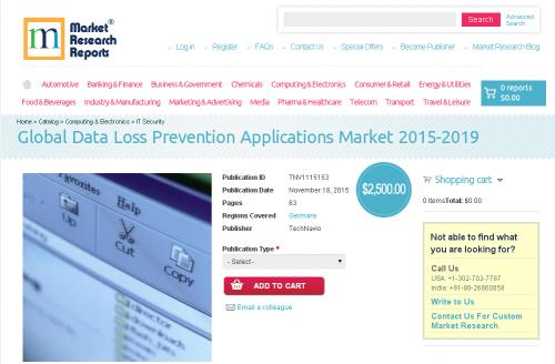 Global Data Loss Prevention Applications Market 2015-2019'
