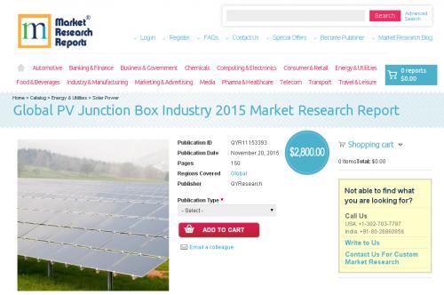 Global PV Junction Box Industry 2015'