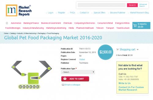 Global Pet Food Packaging Market 2016-2020'