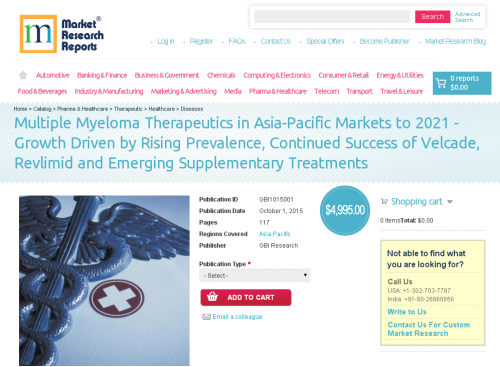 Multiple Myeloma Therapeutics in Asia-Pacific Markets'