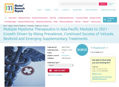 Multiple Myeloma Therapeutics in Asia-Pacific Markets'
