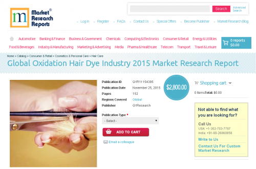 Global Oxidation Hair Dye Industry 2015'