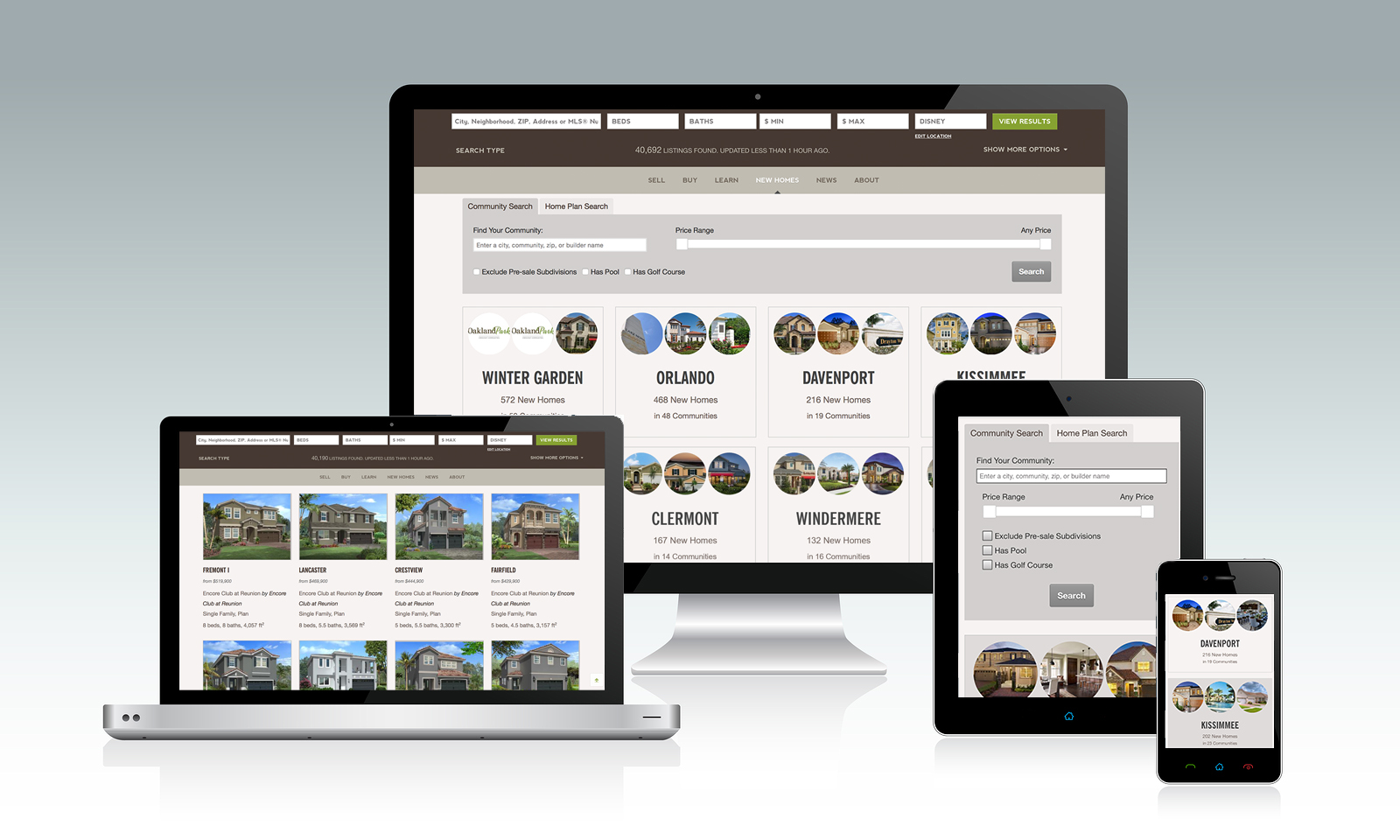 Browse New Homes On Any Device Through The Website