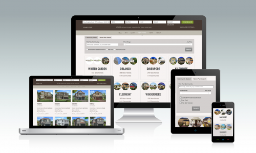 Browse New Homes On Any Device Through The Website'