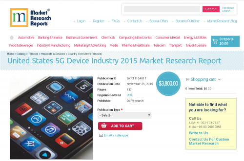 United States 5G Device Industry 2015'