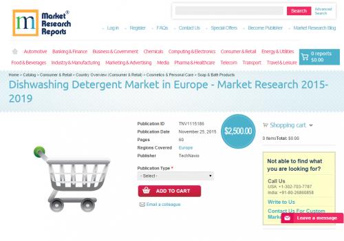 Dishwashing Detergent Market in Europe'