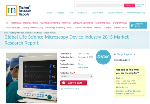 Global Life Science Microscopy Device Industry 2015'