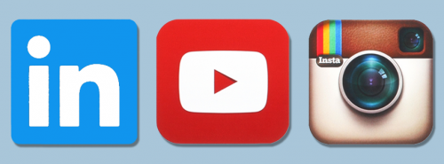 youtube, linkedin, instagram'