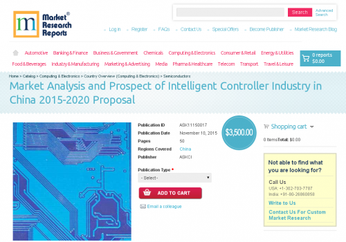 Market Analysis and Prospect of Intelligent Controller'