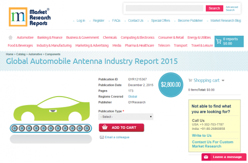 Global Automobile Antenna Industry Report 2015'