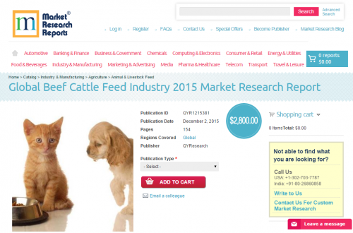 Global Beef Cattle Feed Industry 2015'