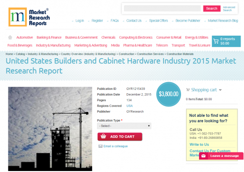 United States Builders and Cabinet Hardware Industry 2015'