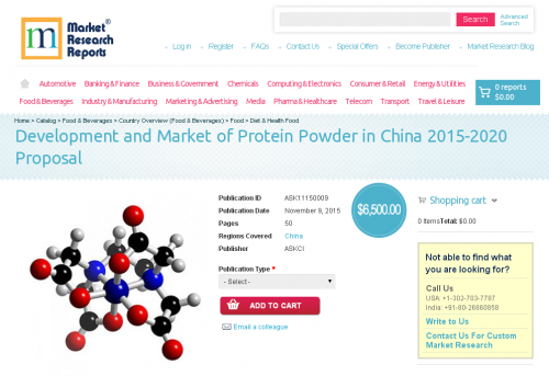 Development and Market of Protein Powder in China 2015-2020'