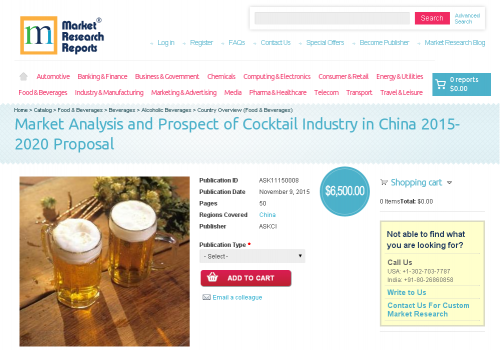 Market Analysis and Prospect of Cocktail Industry in China'