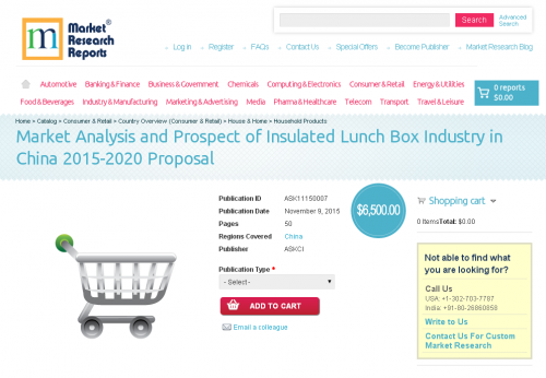 Market Analysis and Prospect of Insulated Lunch Box Industry'