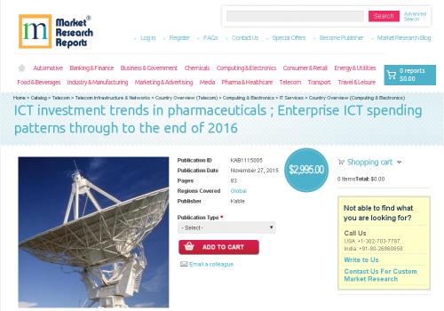 ICT investment trends in pharmaceuticals'