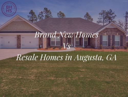 Brand New Homes Vs Resale Homes'