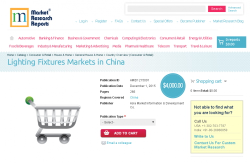Lighting Fixtures Markets in China'
