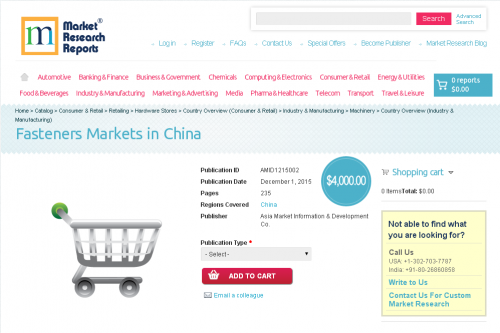 Fasteners Markets in China'