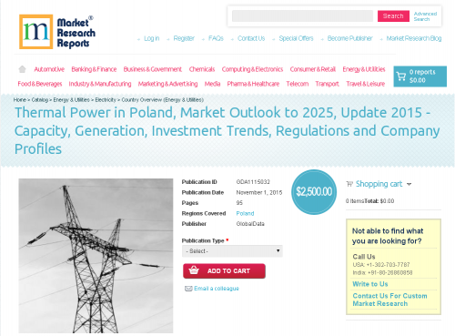Thermal Power in Poland, Market Outlook to 2025, Update 2015'