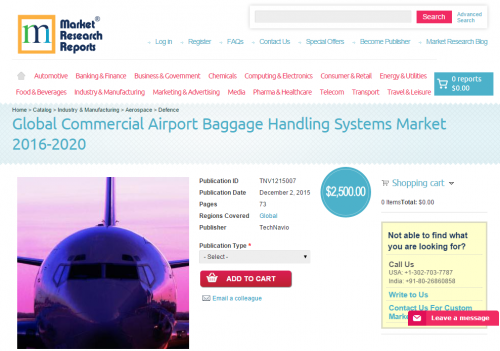 Global Commercial Airport Baggage Handling Systems Market'