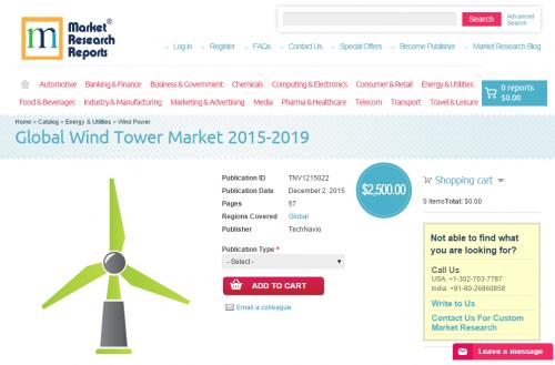 Global Wind Tower Market 2015-2019'
