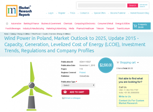 Wind Power in Poland, Market Outlook to 2025, Update 2015'