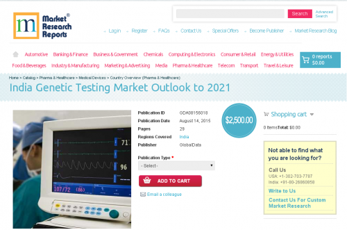 India Genetic Testing Market Outlook to 2021'