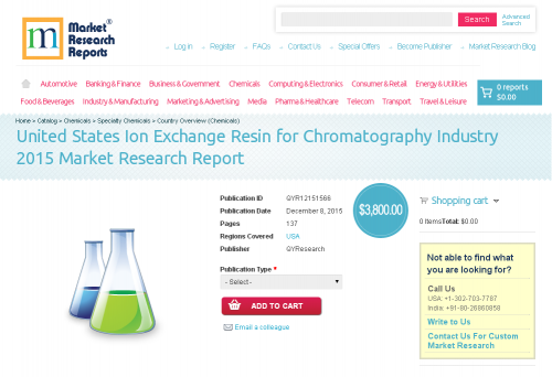 United States Ion Exchange Resin for Chromatography Industry'