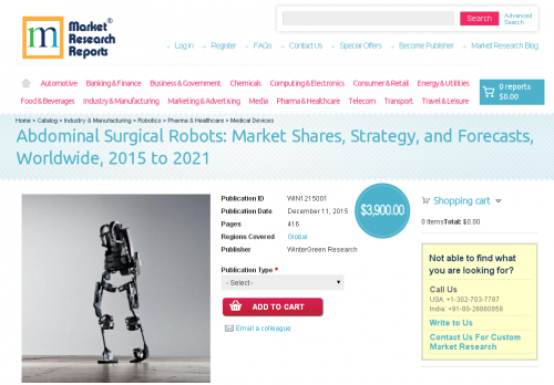 Abdominal Surgical Robots: Market Shares, Strategy'