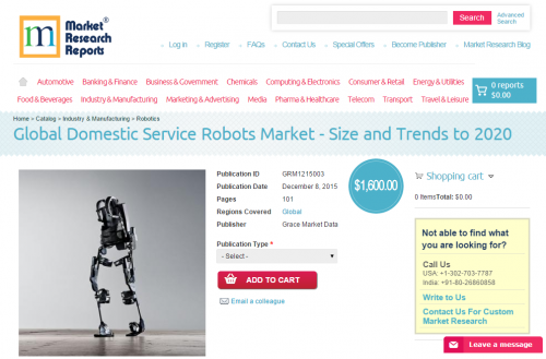 Global Domestic Service Robots Market'