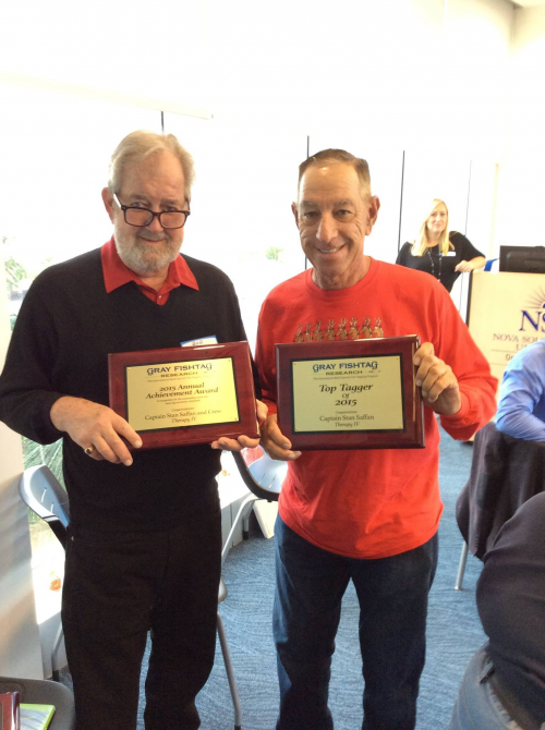 Captain Stan Staffan Awarded by Gray FishTag Research'
