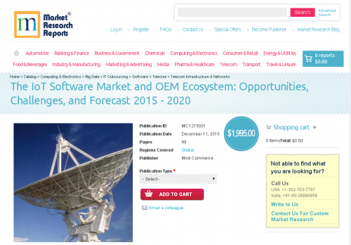 The IoT Software Market and OEM Ecosystem'