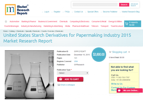 United States Starch Derivatives for Papermaking Industry'