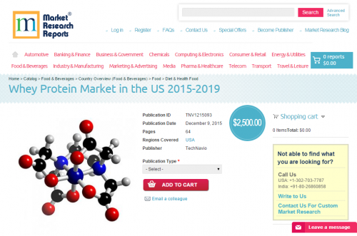Whey Protein Market in the US 2015-2019'