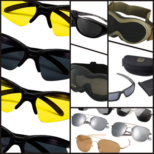 Military eyewear from Wiley X, American Optical, and Bobster'