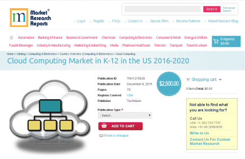 Cloud Computing Market in K-12 in the US 2016 - 2020'