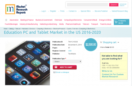 Education PC and Tablet Market in the US 2016 - 2020'