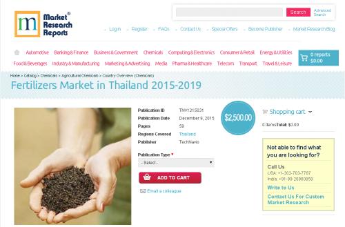 Fertilizers Market in Thailand 2015 - 2019'