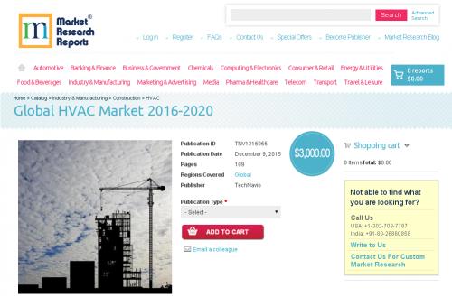 Global HVAC Market 2016 - 2020'